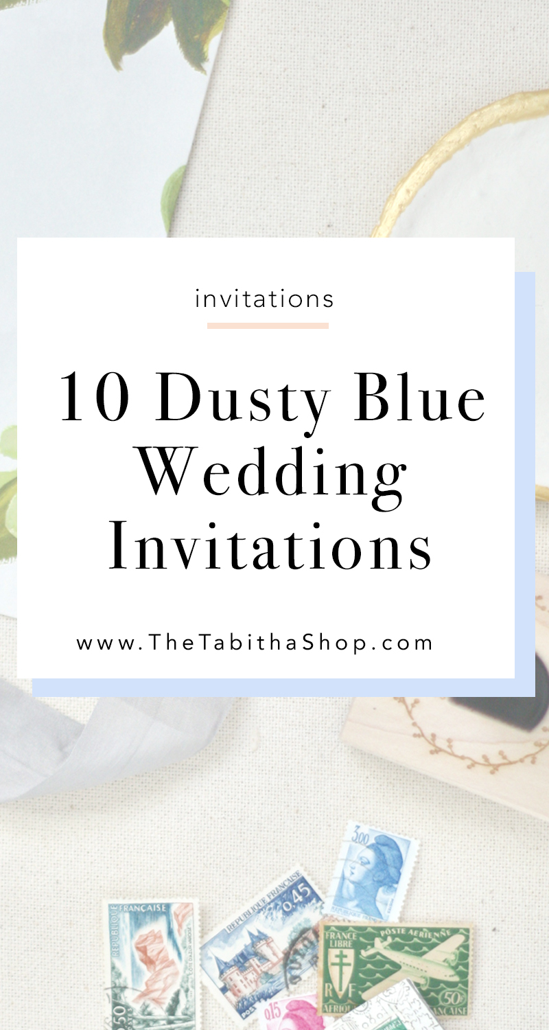 dusty blue invites