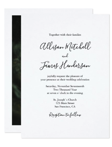 invitation with photo