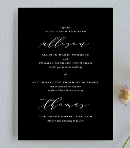 black invitation