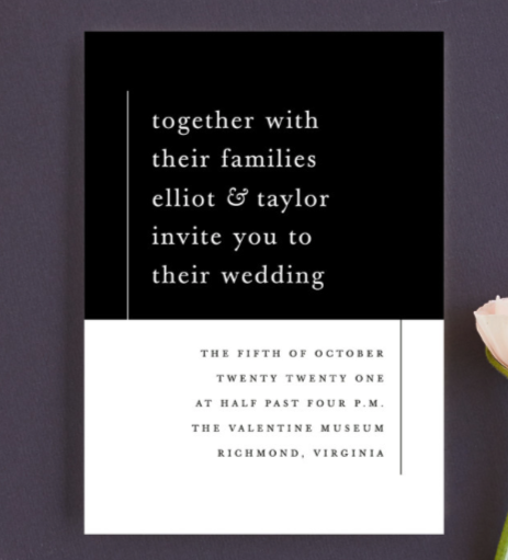 minimal wedding