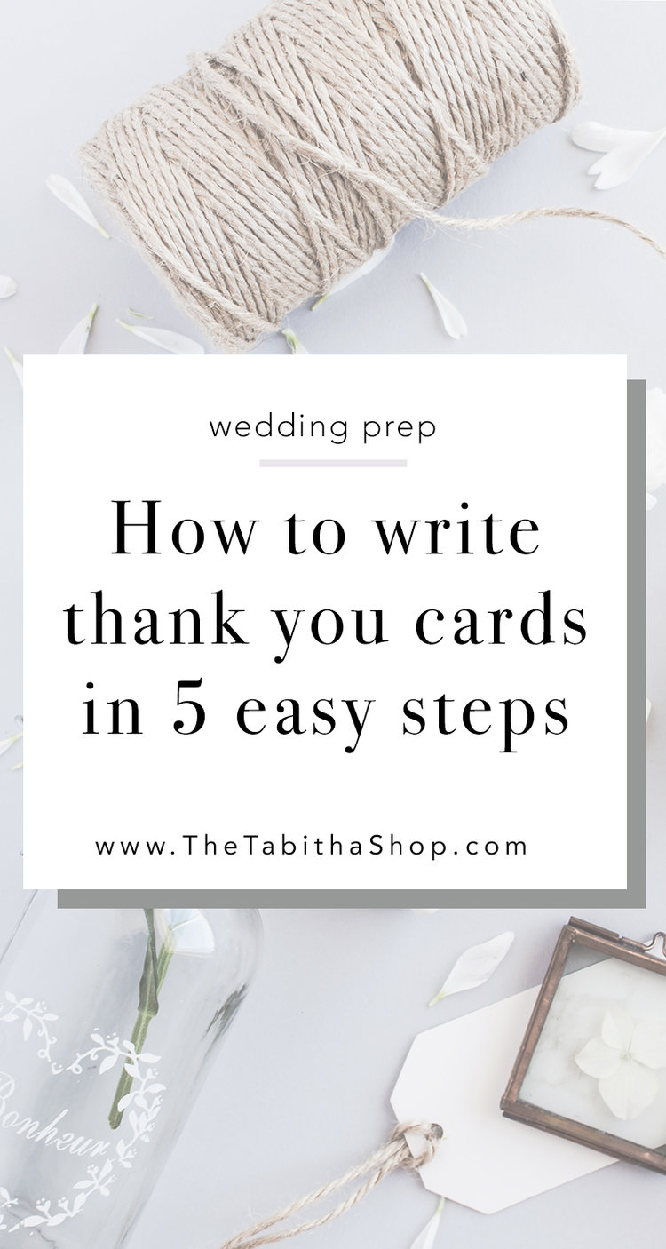 How to write wedding thank you cards the tabitha shop how to write wedding thank you cards junglespirit Image collections