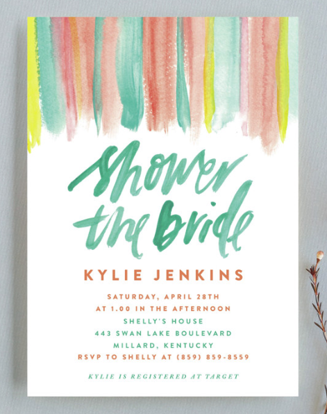 spring bridal shower invite