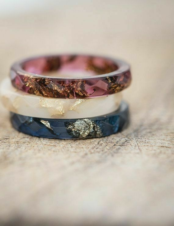 red white and blue rings