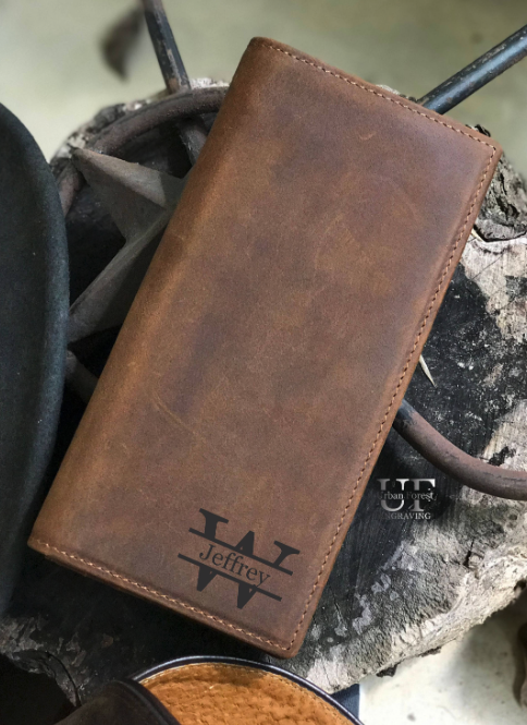 leather wallet for groom