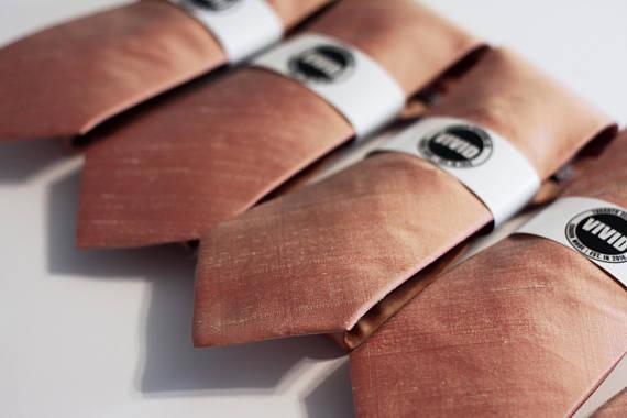 rose gold groom tie