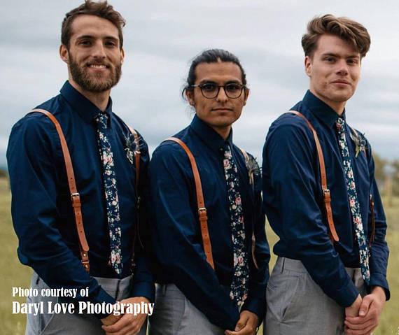 floral navy ties