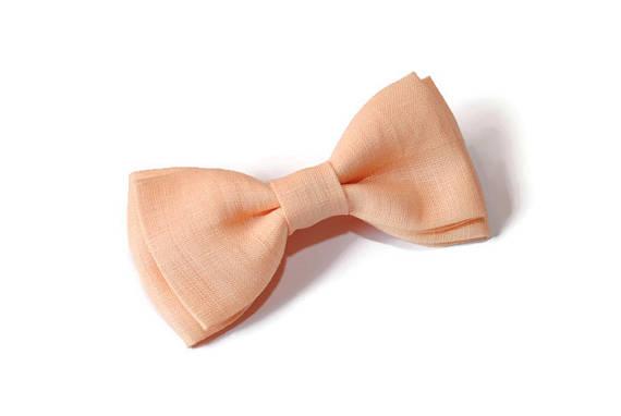 linen apricot tie
