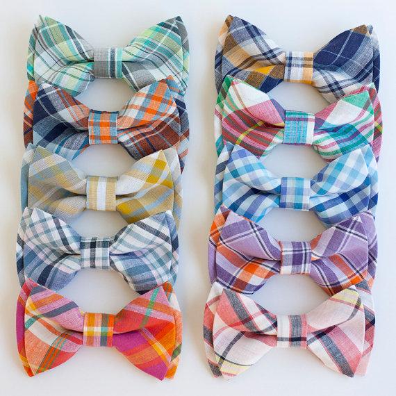 plaid spring ties