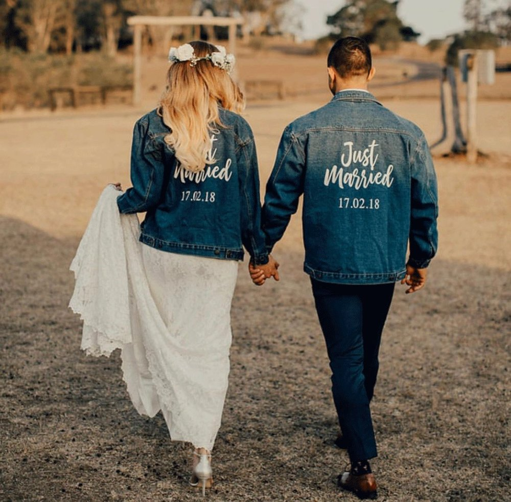 denim just married jackets