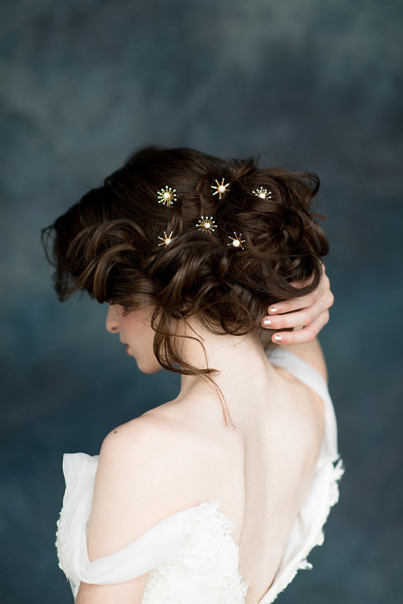 celestial hair clips
