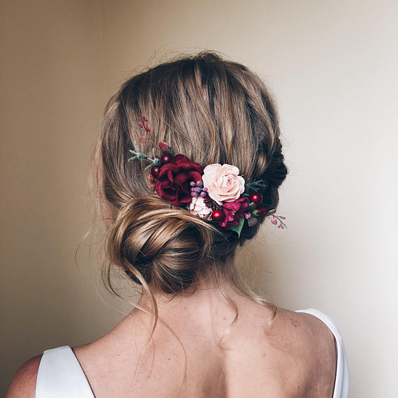 fall wedding hair comb