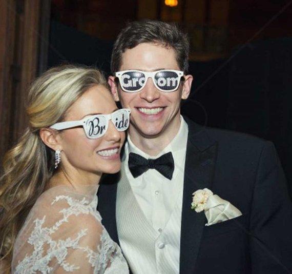 bride groom sunglasses