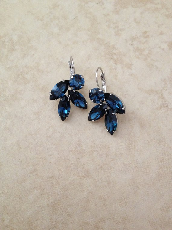 Blue Wedding Earrings
