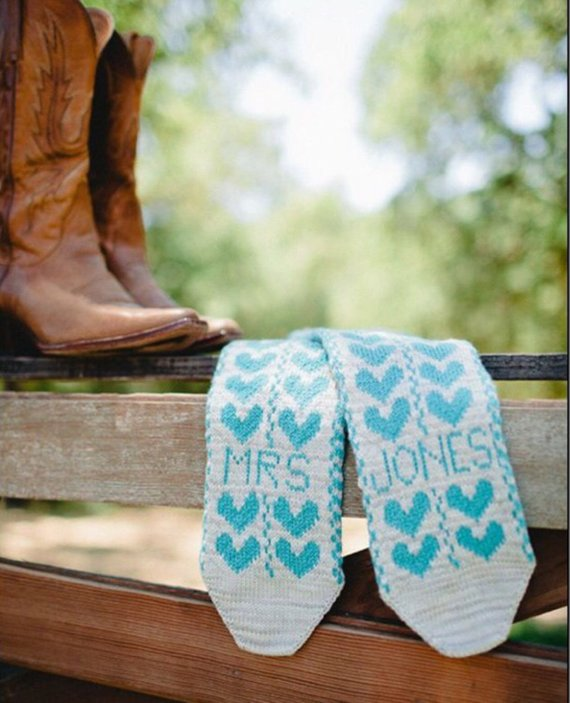 Blue Wedding Socks