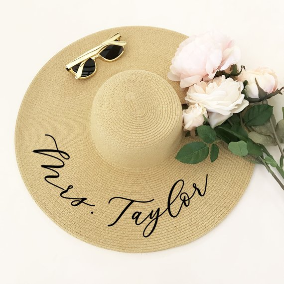 Personalized Honeymoon Floppy Hat