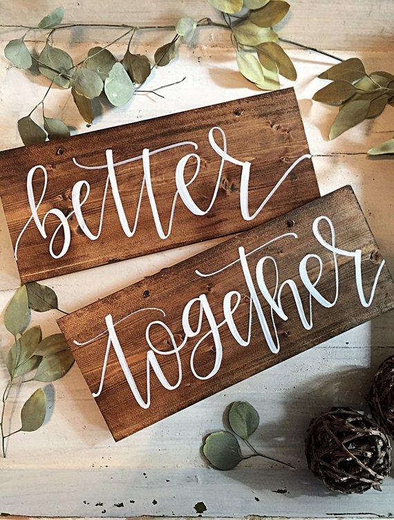 11 Signs for your Wedding Day Chairs - Wooden Chair Signs by Salvaged Chic Market