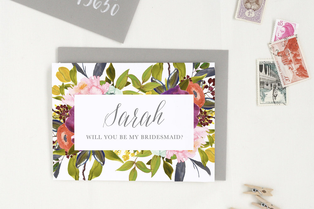 Bridesmaid Proposal Card - Propose to your besties by telling them how wonderful they really are, then watch your gratitude soar!