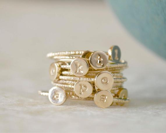 stacked rings bridesmaid gifts