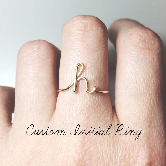 Custom Initial Ring Gift
