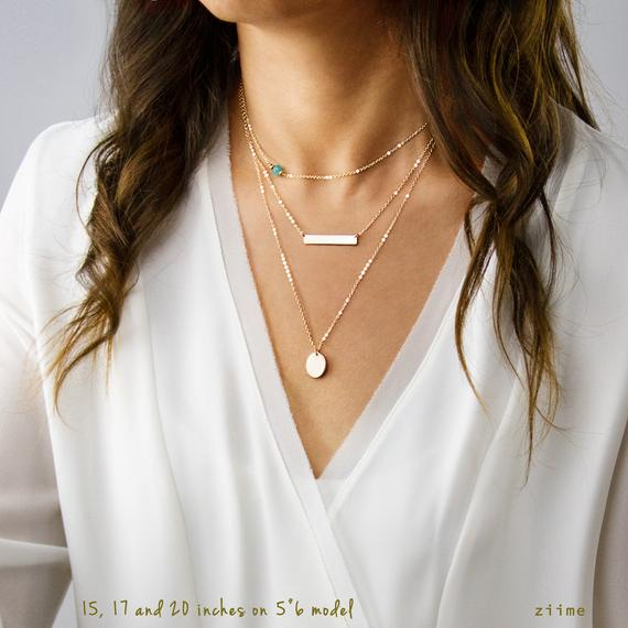 Layered Necklaces Maid of Honor Gift