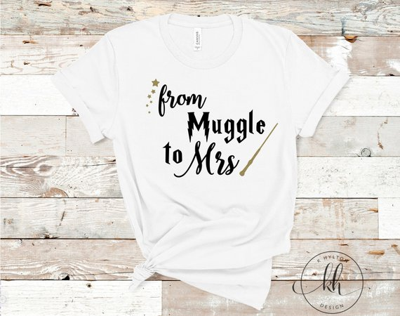 How to Throw a Harry Potter Wedding - Shirt by KHyltonDesign - #wedding #harrypotter #always #muggletomrs