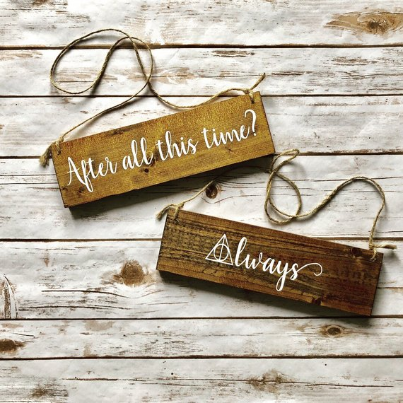 How to Throw a Harry Potter Wedding - Wedding Signs by Design by Geja - #wedding #harrypotter #always #muggletomrs