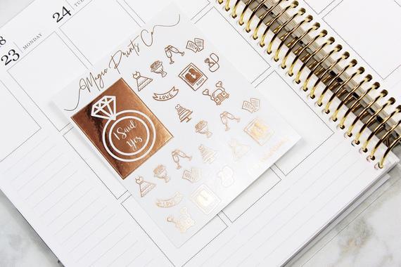 10 Wedding Planners to Keep Your Sanity - Stickers by Magic Prints Co - #weddings #weddingplanning #weddingplanners