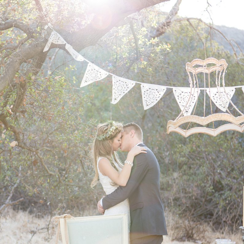 14 Gorgeous Ideas for an Outdoor Summer Wedding - Bunting by BaloolahB - #weddings #summerwedding #outdoorwedding #summer