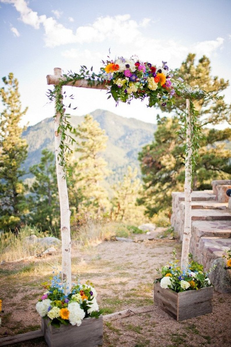 14 Gorgeous Ideas for an Outdoor Summer Wedding - Floral Arch by Blue Skies Forever - #weddings #summerwedding #outdoorwedding #summer