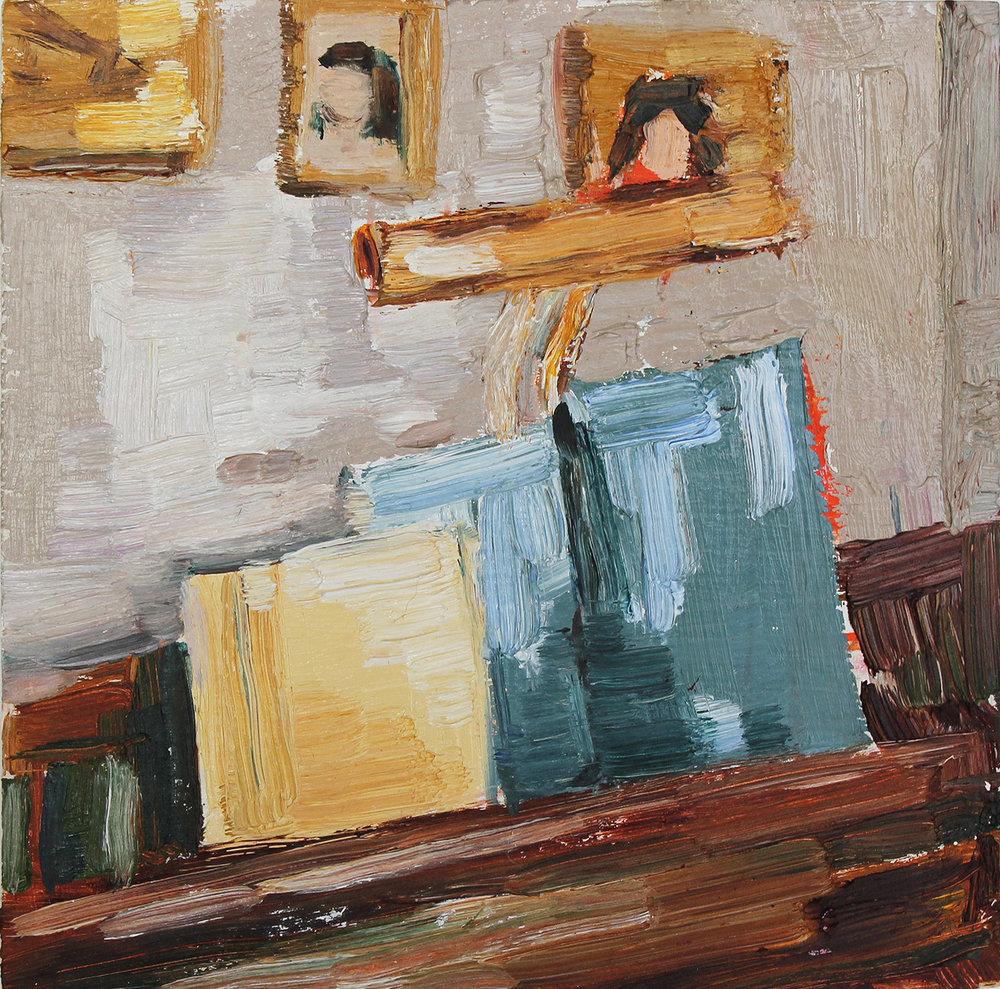 "Still Life at the Piano, 4x4"""
