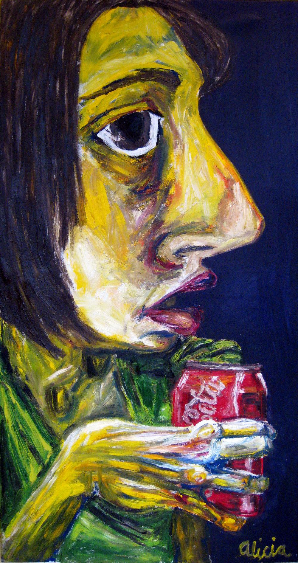 Self Portrait, 2x3.5'