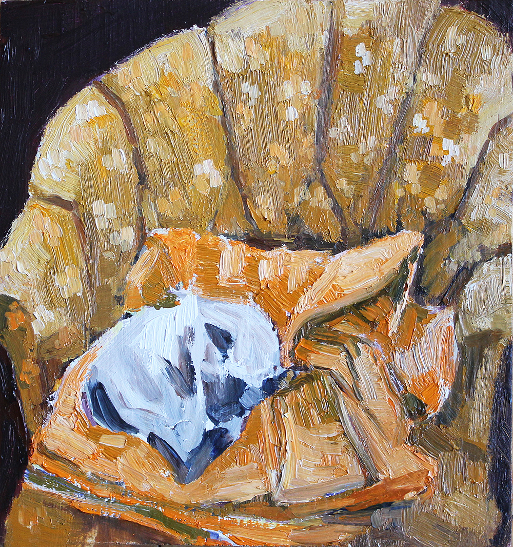 Toulouse Sleeping, 4x4""
