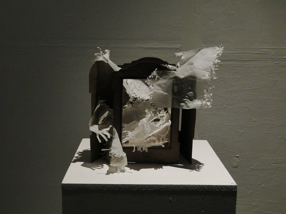 Vitrine with sweet papers, Octagon, West Cork Arts Centre 2013