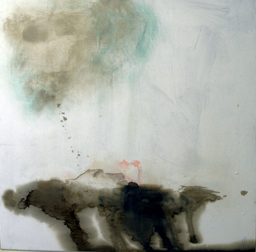 of dualities there are none, mixed media on board