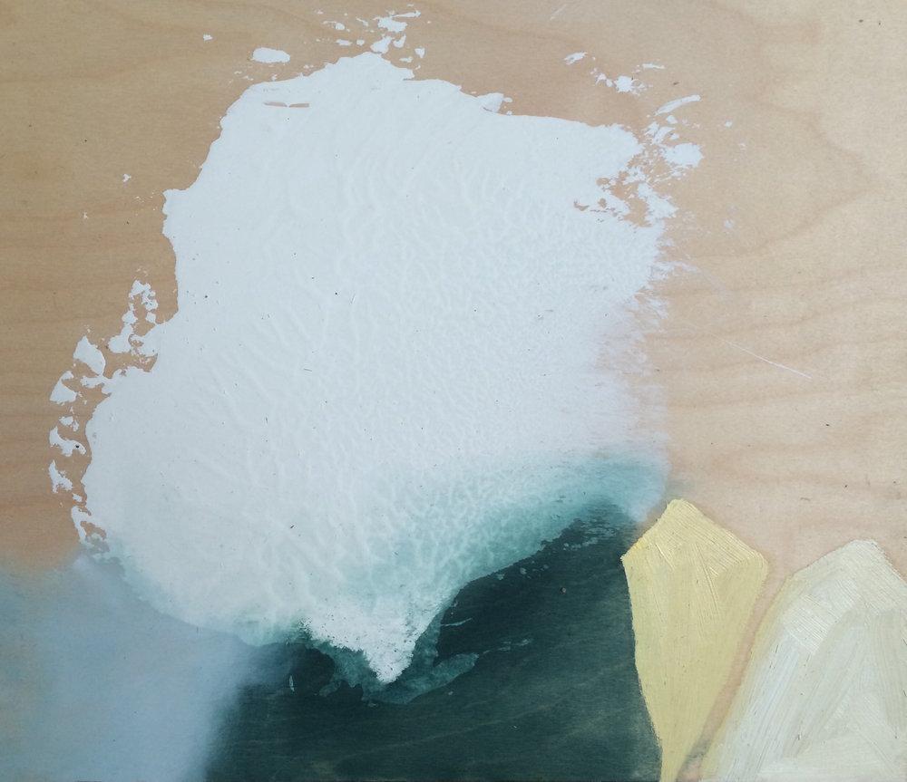 Arrowhead, oil on board 2016, 50x50cm 2016