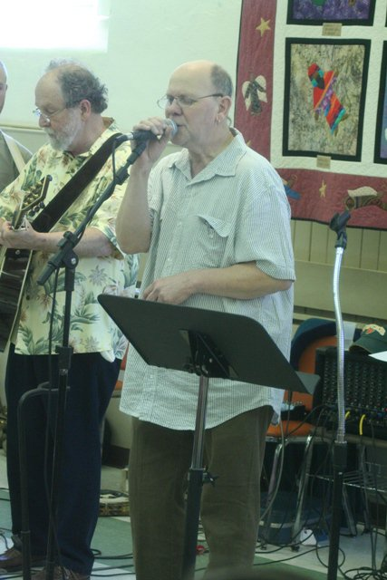 Bob Beach and Jim Klinger -- key members of our small contemporary group called First Light.