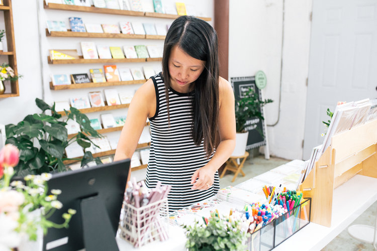 Pei Sim Caso: Co-Founder of The Fine Goods Market and owner of The Paper + Craft Pantry in Austin, Texas.