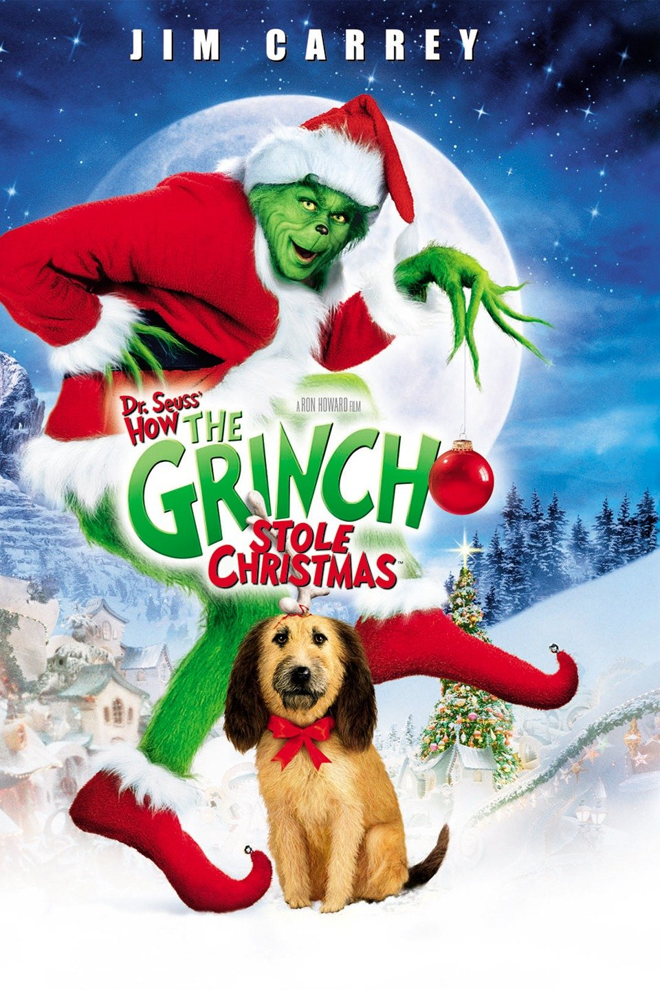 How The Grinch Stole Christmas - Whilst the classic cartoon is bound to be shown on TV at least once this holiday season, it's this live action flick that does it for us. Your heart will grow three sizes too!