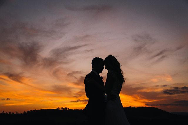 A moment at sunset from Nathan and Sarah's wonderful day! www.kristytoepfer.com.au #throwback #sentimentalsunday #love #bride #groom #tocalhomestead #instagood #pic #picoftheday #wedding #sydneyweddingphotographer #huntervalleyweddings