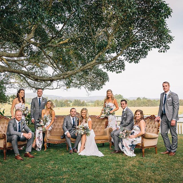 Nathan & Sarah in the Hunter Valley yesterday #sarahnatedinthehunter #supportteam #reallyreallyridiculouslygoodlookingbridalparty  #loveisabigdeal #huntervalleyweddings #kristytoepferphotography #picoftheday #instaphoto
