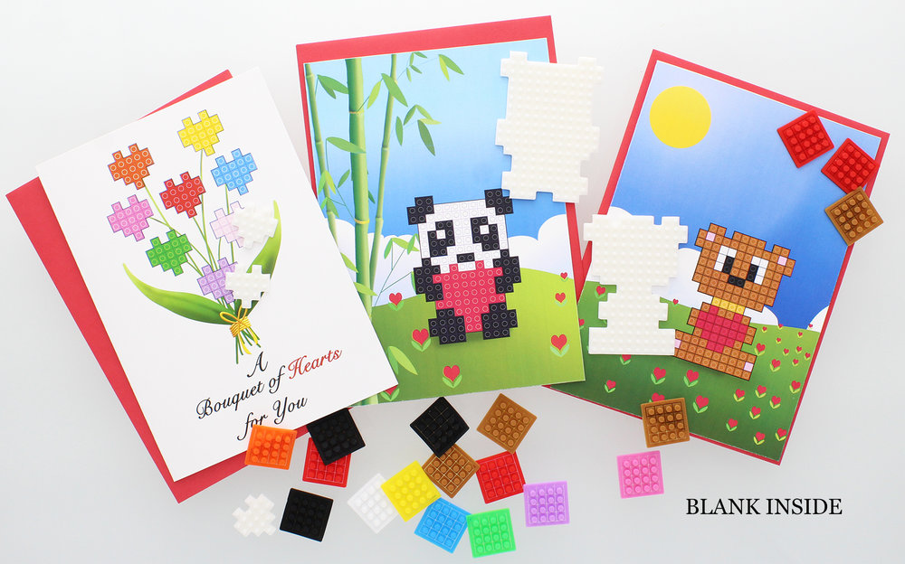 NEW!! STiKidotz Greeting Cards  Choose from a number of styles and messages.  Create your own STiKidotz 3D Pixel Art Greeting cards.   These one of a kind greeting cards are creative and lots of fun. Each package contains 1 beautifully designed card incorporating the STiKidotz character, 1 STiKidotz character and plenty of dotzBLOKs to decorate the character.    MSRP Starts from $8.99     MORE INFORMATION     Available SOON!