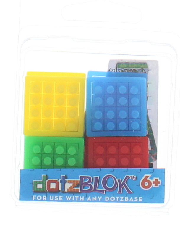 Mixed Pack DotzBLOKS: 2 each Yellow, Blue, Green and Red