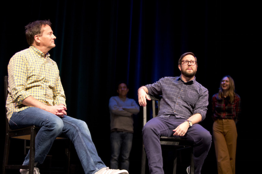 Michael Hitchcock, Oscar Nunez, Cole Stratton and Jessica Makinson at Theme Park at SF Sketchfest, January 28, 2017. Photo by Tommy Lau.