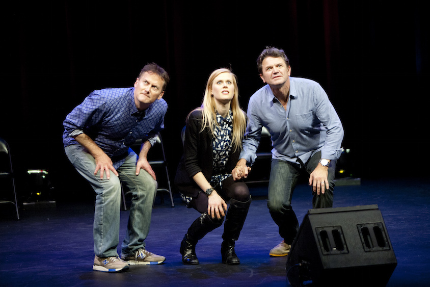 Michael Hitchcock, Janet Varney and John Michael Higgins at Theme Park Improv at SF Sketchfest, February 7, 2014. Photo by Tommy Lau.