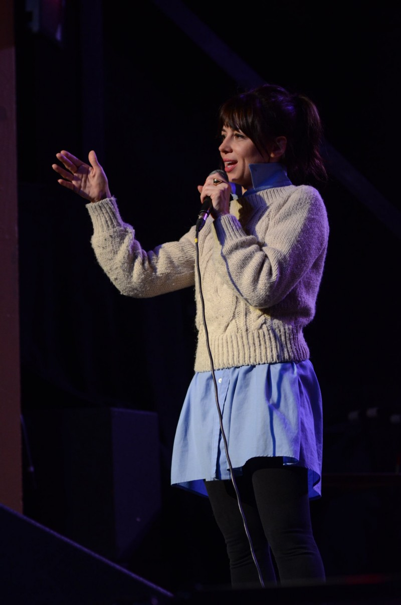 Guest monologist Natasha Leggero at Theme Park Improv at Bridgetown Comedy Festival, May 3, 2013. Photo by Nathan Sanborn.