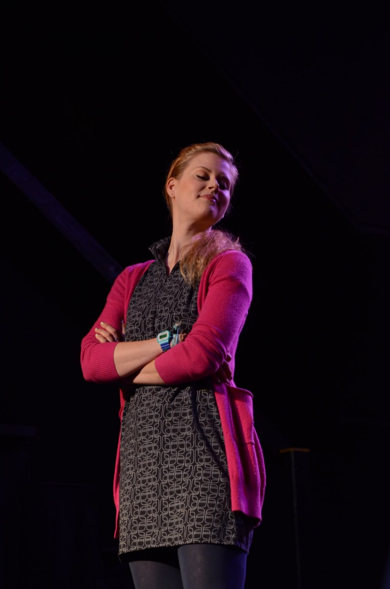Janet Varney at Theme Park Improv at Bridgetown Comedy Festival, May 3, 2013. Photo by Nathan Sanborn.
