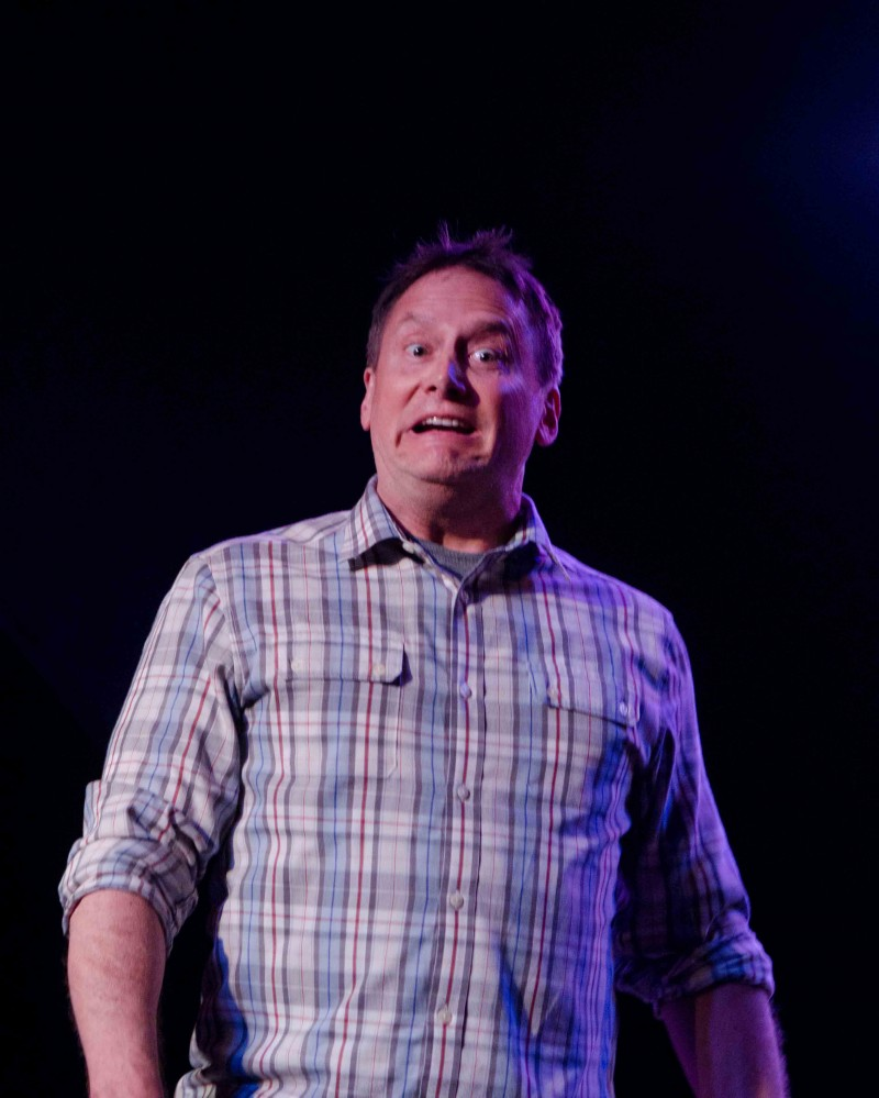 Michael Hitchcock at Theme Park Improv at Bridgetown Comedy Festival, May 3, 2013. Photo by Nathan Sanborn.