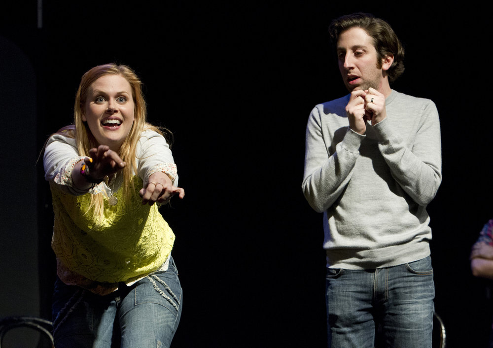 Janet Varney and Simon Helberg at Theme Park Improv at SF Sketchfest, February 9, 2013. Photo by Jakub Mosur.