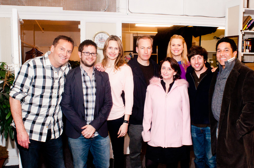 Theme Park Improv and special guest monologist Bob Odenkirk backstage at Marines' Memorial Theatre at SF Sketchfest, February 3, 2012. Photo by Ameen Belbahri.