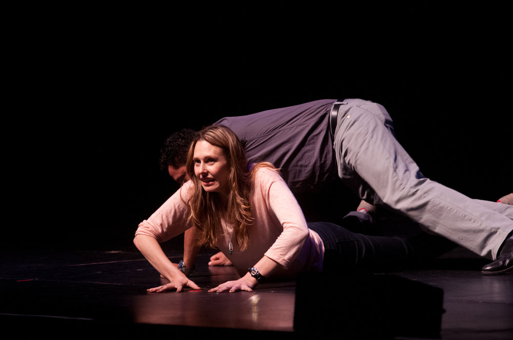 Jessica Makinson and Oscar Nunez at Theme Park Improv at SF Sketchfest, February 3, 2012. Photo by Ameen Belbahri.